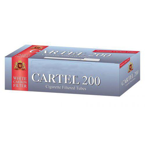 Tuburi de tigari Cartel 200 White Carbon Filter