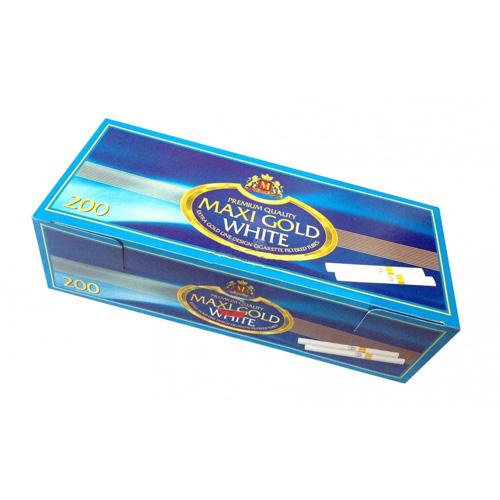 Tuburi de tigari Maxi Gold White 200