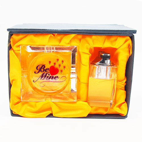 Set Be Mine - bricheta model transparent si scrumiera